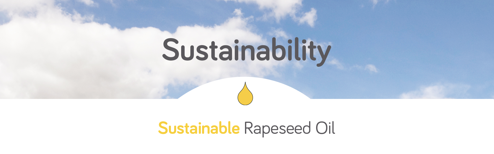 sustainable rapeseed oil banner
