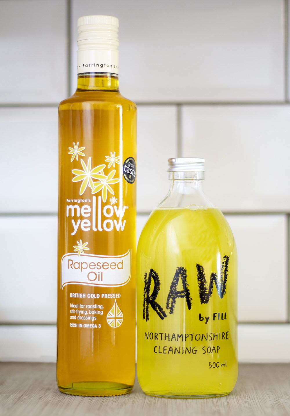 mellow yellow rapeseed oil and northamptonshire cleaning soap
